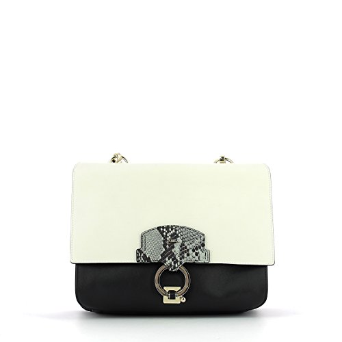 BORSA FURLA SCOOP SHOULDER BAG LARGE 904153 ONYX+PETALO+ARGILLA