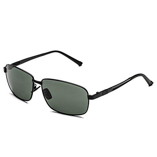 CHB Men's Classic Pilot Polarized caravan sunglasses UV protection unbreakable - Caravan Sunglasses