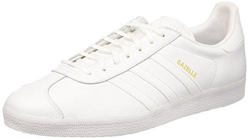 adidas Herren Gazelle Sneaker Weiß (Ftwr White/Ftwr White/Gold Metallic)
