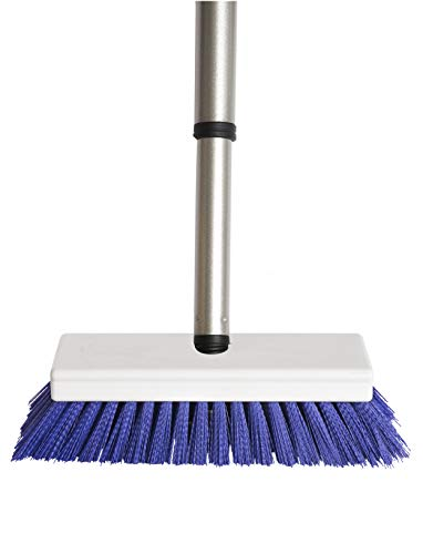 Fuller Brush Tub & Shower E-Z Scrubber Brush - Heavy Duty Brushing Scrub w/Stiff Bristle & Extended Telescopic Handle For Cleaning Bathroom Floor & Tiled Kitchen Surface - For Home & Commercial Use