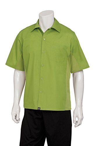 Chef Works CSMV-LIM-4XL Men Universal Shirt, Lime / Lime, 4XL by Chef Works
