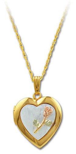 Landstroms 14/20 Gold-Filled Heart Locket with Natural Mother Of Pearl, 18