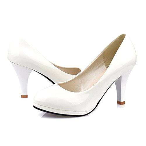 Pointues Mariage Femmes forme La Augmentation Orteils Talons Plate Blanc Les Étanches De Pompes Chaussures gExwP0