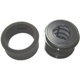 Bissell Part#203-2587 - Inner and Outer Circular Filter Set Replacement for Bissell Upright 9/10/12, CleanView II Bagless, 3574/3576 Series, PowerForce Bagless and 6594/6579/6596 Series by EnviroCare Part#955 (1, 4.5 IN)