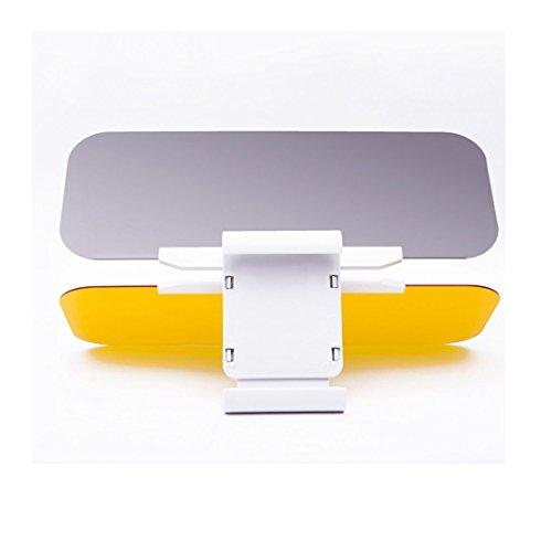Sun Visor Anti-Glare Blocker UV Fold Flip Down HD Clear View Visor (Fold Down License Plate Holder)
