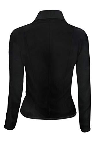 Dazosue Cappotto Giacca black Le Slim Tasche Donne Balzer Fit 5XL Pulsante Ufficio 7gZTq7