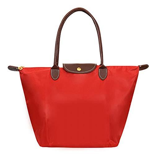 À QZTG pour à Grande Sacs Sacs Capacité Femme Fourre Bandoulière rouge Main Tout sac Nylon À en main De Ba8rq5Pxw8