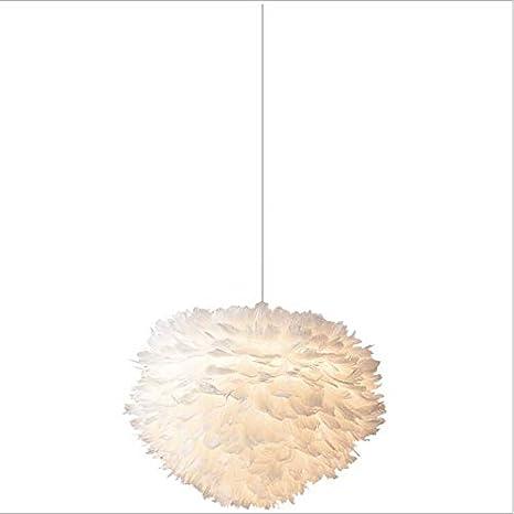 Lámpara de techo de plumas de color claro simple estilo ...