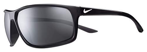 Nike Men's Adrenaline Polarized Rectangular Sunglasses, ANTHRACITE/WHITE, 66 ()