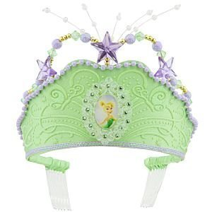 Disney Glitter Tinkerbell Fairy Crown Tiara Green Tinker Bell for -