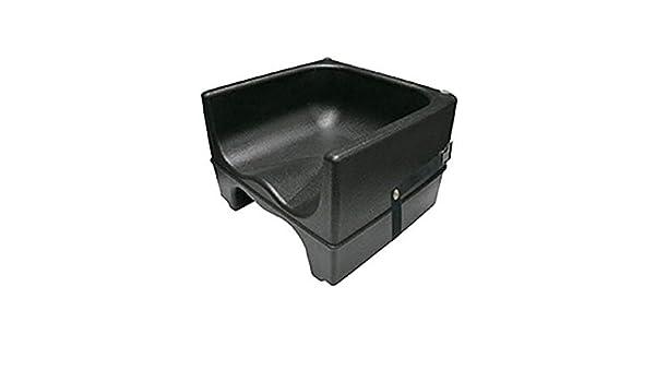 Update International PP-BCS//BK Plastic Booster Chair w//Strap