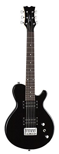 Dean Playmate EVO Junior Solid Body Electric Guitar, Classic Black, 3/4-Size