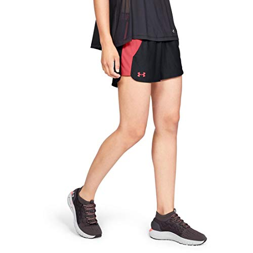 Under Armour Women's Play Up Short 2.0, Black/Watermelon, XXS by Under Armour (Image #1)