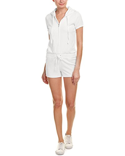 Juicy Couture Womens Micro-Terry Hooded Romper, M