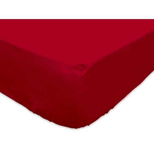 Soleil d'Ocre 611203 Drap Housse Jersey Rouge 90 x 190 cm