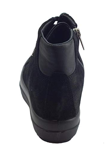 Mujer Cordones 2155600 Zapatos Gamuza Cremallera Co amp; Negro Igi Altas Nero Zapatillas Uqw8XFnH