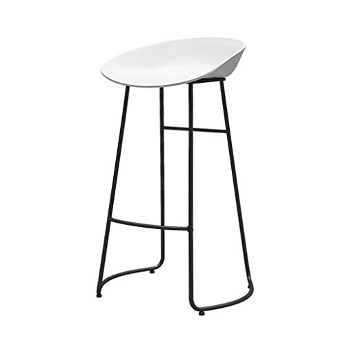 Gsej-Barstools Two-Piece Counter Chair/Metal Bar Stool, Ergonomic Cushion, Suitable for Cafe, Kitchen, Bar, White, Multiple ()