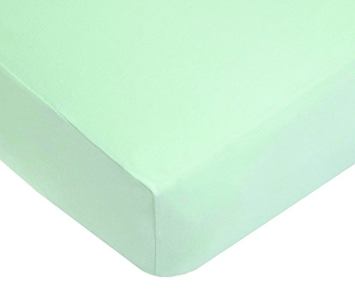 American Baby Company 100% Cotton Jersey Knit Fitted Crib Sheet for Standard Crib and Toddler Mattresses, Mint