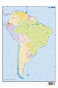 mapa América del sur político: s.a. edigol ediciones: 9788492525300 ...