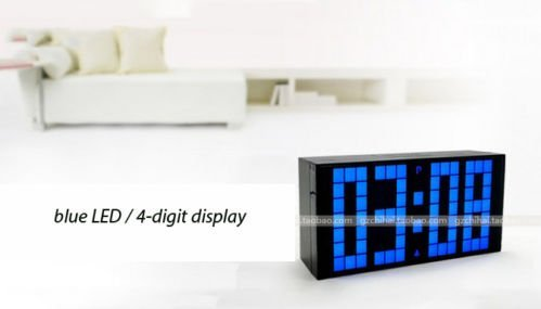 Yosoo Large Big 4 6 Digit Jumbo LED Digital Alarm Calendar Snooze Wall Desk Clock (Bule, 4-Digit Version) - Its good looking and will compliment almost all furniture and interiors It can be used as a table/desk clock, but also can be hung to act as a wall clock. Long-distance readable. it is readable easily within 25 meters, which is very very different from traditional clocks which can only be used from a short distance. - clocks, bedroom-decor, bedroom - 31CXuru271L -