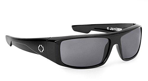 Spy Optic Logan Sunglasses Gloss Black with Happy Grey Green Polarized Lens