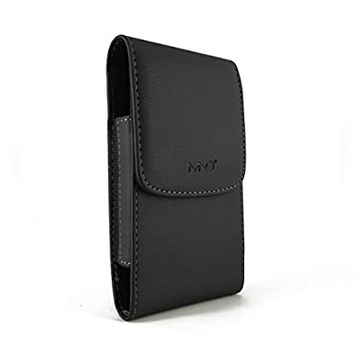 Vertical Leather Case Pouch Holster for Blackberry Z30/ Z3, Lenovo A5000/ A6000/ S850/ Xiaomi Mi 4i/ Motorola Moto G LTE (2015) - with Magnetic closure with belt clip (Plus Size will Fit w/ a Single Slim cover or skin on) from MyNetDeals