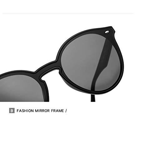 Lunettes Pour Oversize Huijie Flat Sun Lenses A Soleil De Vintage Femmes Rondes Shades 4X5wSq