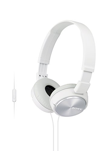 Sony Foldable Headphones with Smartphone Mic and Control - Metallic White