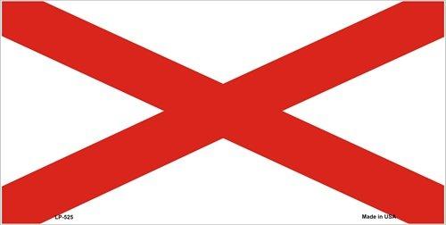 Alabama State Flag Aluminum Automotive Novelty License Plate Tag Sign