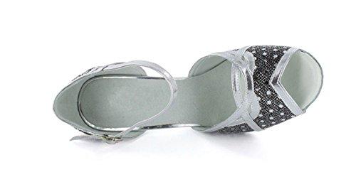Minitoo - salón mujer Plateado - negro/plata