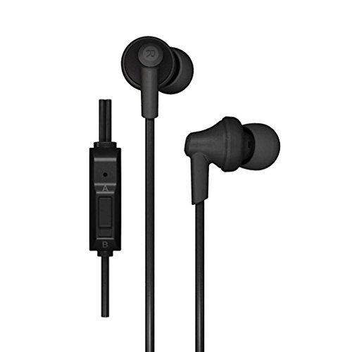 GranVela® POD-616 In-Ear Headphones, Noise Isolating Earphones with Mic High Definition Earbuds for iPhone, Samsung, Tablets and More 3.5mm Audio Output (Black)