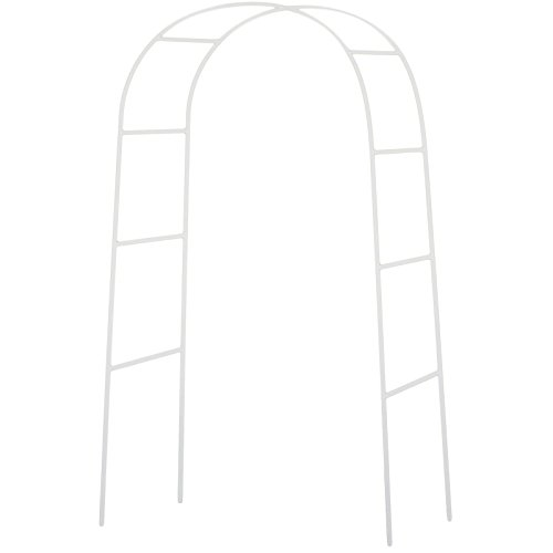 Flower Arch (NStar Real Sized Metal Decoration Arch, White)
