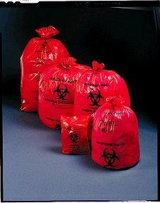 Medegen Medical Products 44-13 Medegen Saf-T-Seal Waste Infectious Bags - 200 Per Case Red, 200 Per Case by Medegen Medical Products