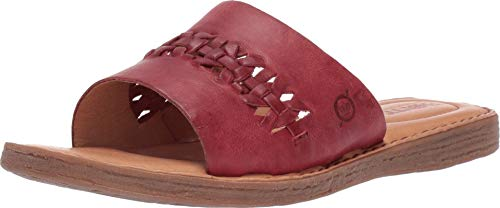 Born St. Francis Red Full Grain Leather Women's Sandals