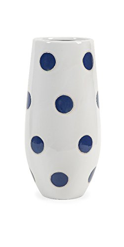 IMAX 25266 Essentials Polka-Dot Vase, Marine Blue