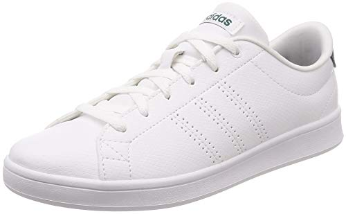 White 0 Clean Footwear QT Footwear Advantage adidas Green Weiß White Damen Noble Sneaker qYEw71tn1z