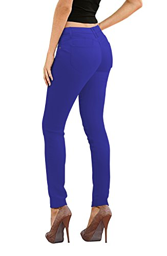 Women's Butt Lift Stretch Denim Jeans-P37383SKX-COBALT ()