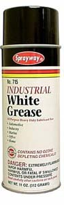 Industrial White Grease Lubricant, 11 oz - SPRAYWAY SW715