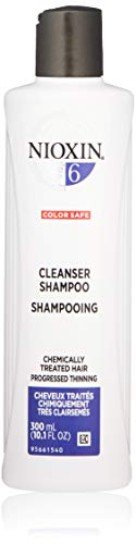 Nioxin Cleanser Shampoo, System 6 (Chemically Treated Hair/Progressed Thinning), 10.1 Fl ()