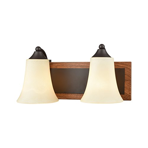 Thomas Lighting Park City 2 Light Bath In Oil Rubbed Bronze,Wood Grain And Light Beige Scavo - Outlet Park City