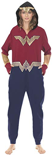 Underboss Unisex Adult Wonder Woman Union Suit Pajama With Drop Seat, X-Large (Wonder Pajamas Woman Adult)
