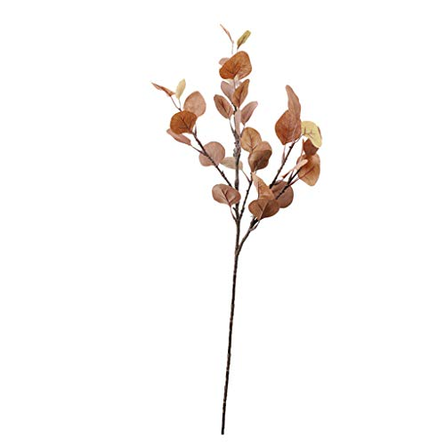 Clearance Sale!DEESEE(TM)Simulation Money Grass Flower Arrangement Leaf Fake Flower Simulation Plant (Red)]()
