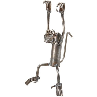 Swinging Monkey Recycled Metal Sculpture