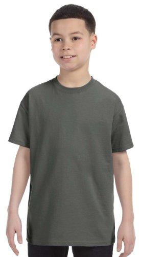 - Gildan Heavy Cotton Youth 5.3 oz. T-Shirt, Small, MILITARY GREEN