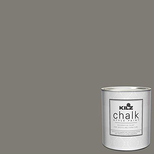 KILZ 00004204 Interior Chalk Style Ultra Flat Decorative Paint for Furniture 1 Quart Smokey Eyes