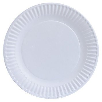 HomeyGear Paper Plates Disposable Everyday Dinnerware 9 Inch White Uncoated 200 Ct