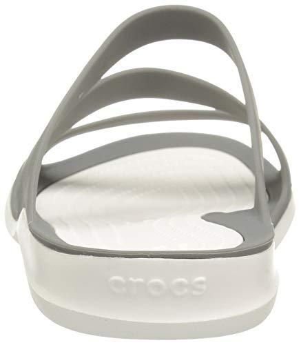 Grey White Crocs Smoke Women Swiftwater Sandals Fashion I4fIYrq