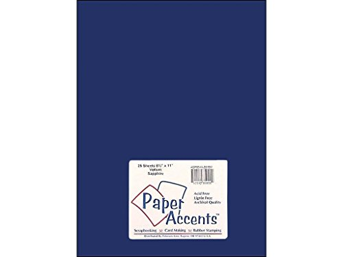 Accent Design Paper Accents Vellum 8.5x11 27# Sapphire - Paper Accents Vellum