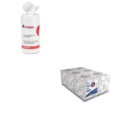kitkim21271unv43660-value-kit-universal-dry-erase-cleaning-wet-wipes-unv43660-and-kimberly-clark-kle