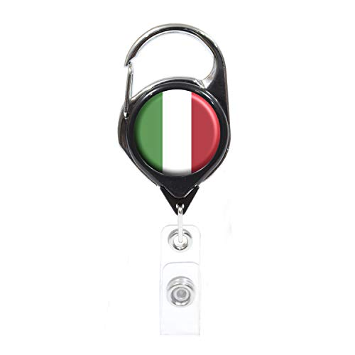 - Officially Needed-Italy Country ID Badge Holder, Black Retractable Carabiner Clip   Great Office Supplies or Holding Keys   Gifts for Women, Teachers, Nurses, Professionals, Government, New Hires